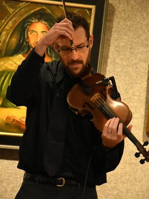 "Violinist Jeff Leigh displays his mastery of the instrument. Swing jazz duo Gypsy Sojourn performed Tuesday evening at the Marco Island Center for the Arts, part of the center's ""Musical Interludes"" series, which continues March 7 with Irish music from West of Galway."