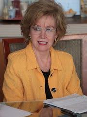 Iris Smotrich attends The Desert Sun editorial board