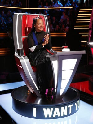 """Alicia Keys is back as a coach on """"The Voice"""" for a third time. The show airs Mondays and Tuesdays on NBC."""