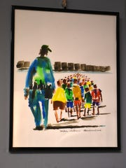 """""""Border Children"""" takes on the question of immigration policy. Donald Sunshine's exhibit """"Art as Commentary"""" is on display at the Marco Island Center for the Arts through Mar. 27."""