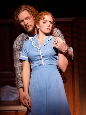 "Nick Bailey and Desi Oakley star in the Broadway touring production of ""Waitress the Musical."""
