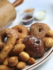 A donut platter at Mike's Village Restaurant in Diamondale,