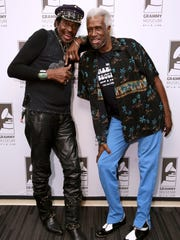 "Willie Chambers and Joe Chambers attend ""An Evening with the Chambers Brothers"" at The Grammy Museum in 2016 in Los Angeles. The group will perform May 27 at the Simi Valley Cajun & Blues Music Festival."