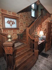 The staircase at the home of Virginia Ehrlich in Louisville.