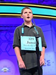 "Jared Mueller spelled the word ""oprichnik"" correctly during the 2018 Scripps National Spelling Bee at the Gaylord National Resort and Convention Center in National Harbor, Maryland, on May 29, 2018."