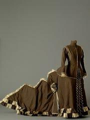 'Cinematheque-- Autant-Lara' by Claude (1901–2000) is a reproduction in silk, tafffeta and cotton of Catherine Hessling's dress in Jean Renoir's film 'Nana '1926 (1984). La Cinémathèque française, Paris, C 0016