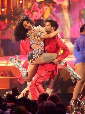 LOS ANGELES, CA - OCTOBER 09:  Cardi B performs onstage
