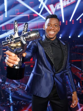 """Chris Blue took home the trophy for Season 12, singing """"The Tracks of My Tears"""" by The Miracles during his blind audition."""