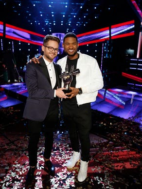 """Kaufman's blind audition of George Michael's """"One More Try"""" got all four coaches to turn their chairs, but Usher got the gig as Kaufman's coach for the season."""