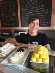 Christina Logsdon and her husband Joe Logsdon operate the original La Mie Bakery in the Shops at Roosevelt along with both La Mie Express and La Mie Elevate in downtown Des Moines.