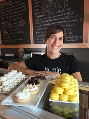 Christina Logsdon and her husband Joe Logsdon plan to open La Mie Express in downtown Des Moines. The couple now operates the original La Mie Bakery in the Shops at Roosevelt.