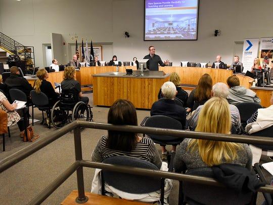 Dennis Whipple, St. Cloud school board chairman, explains