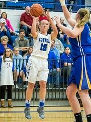 Junior Kayla Hampton gives Wyoming another shooter this season.
