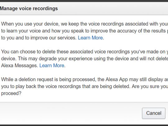Don't be creeped out, but Amazon keeps all voice recordings