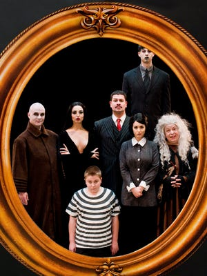 """The cast of the musical """"The Addams Family"""" at Derby Dinner Playhouse."""