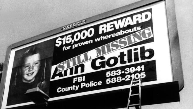 In 1983 Bill Delph climbed up to work on a billboard installed at Bardstown Road and Eastern Parkway about the missing Ann Gotlib.