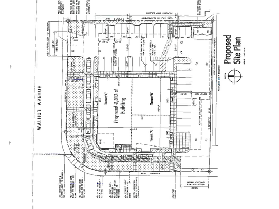 A proposed project plan of the new building on Walnut