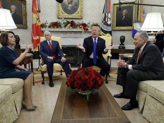 Donald Trump Nancy Pelosi Chuck Schumer, Donald Trump Nancy Pelosi Chuck Schumer
