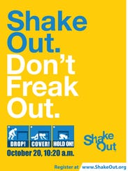 A poster promotes the 2016 Great Guam ShakeOut.