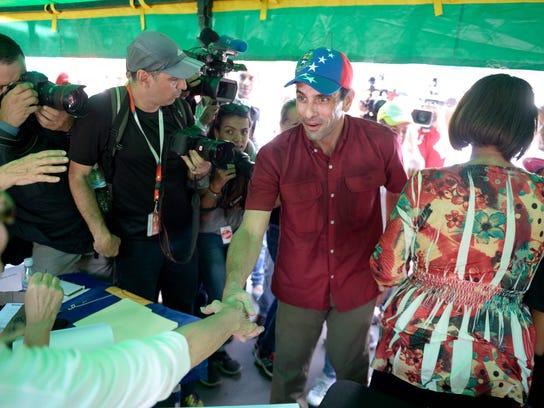 VENEZUELA-CRISIS-PROTEST-VOTE-CAPRILES