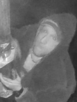 A man is wanted for questioning in connection with a burglary investigation.