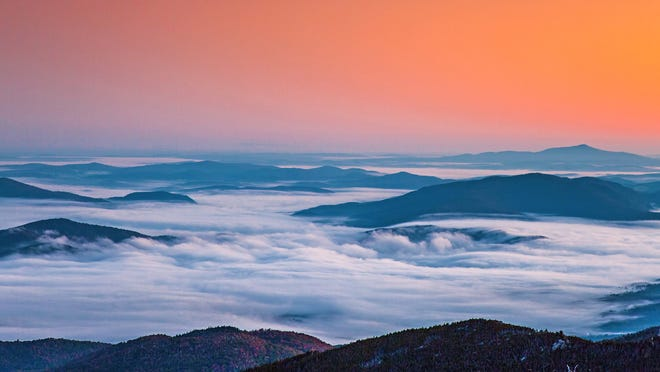Fog and sunrise at Montpelier