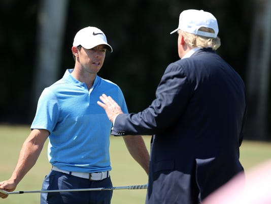 Brennan: Rory takes penalty shots for golfing with Trump