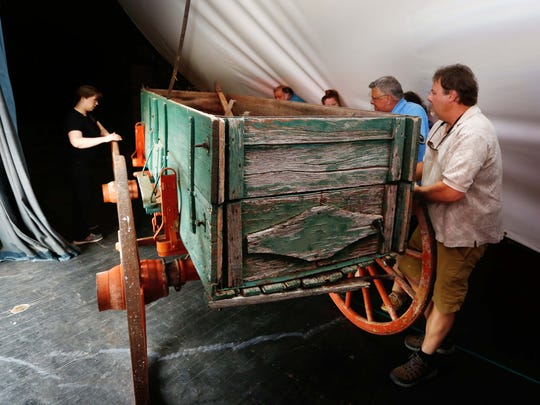 An original Springfield Wagon was unloaded at the History museum on the Square this weekend.