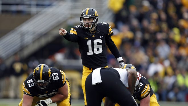 Iowa quaterback C.J. Beathard was sacked four times and completed just 12 passes, but Iowa still moved to 8-0 with a comfortable win over Maryland.