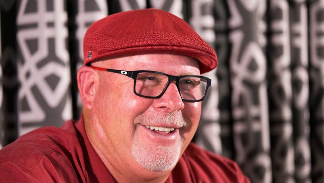Arizona Cardinals head coach Bruce Arians is interviewed at Steak 44 in Phoenix May 2, 2016.