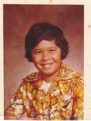 Joseph A. Quinata, as a child in Guam.