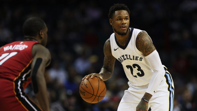 December 11, 2017 - Memphis Grizzlies guard Ben McLemore (23) against the Miami Heat during the first half of action at FedExForum on Monday.