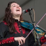 Sarah Jayde Williams and her band The Sharecroppers perform Friday at Music and Market in Opelousas.
