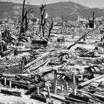 Destruction from the explosion of an atomic bomb in Hiroshima, Japan, on Aug. 6, 1945.