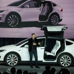 Tesla Motors unveiled the Model X at a launch event in Fremont, Calif.