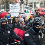 Protesters in Chicago on Dec. 31, 2015.