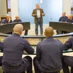 Nashville Police Chief Steve Anderson addresses police recruits during civil rights training, on October 1, 2015.