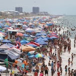 Blog: Thousands line Pensacola Beach for Blue Angels Air Show