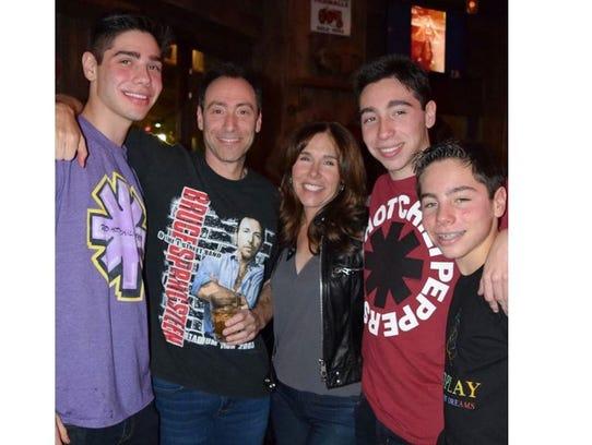 The Steinberg family, from left: William, Bruce, Irene,
