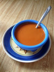 Main Street Cafe in Hurricane livens up its tomato soup by adding roasted red pepper.