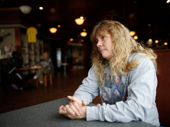 Heather Gibson, owner of the Triple Moon Coffee Company, talks about her 3-year-old business and an improve economy on her street in Middletown, Ohio, on Monday, March 5, 2018.