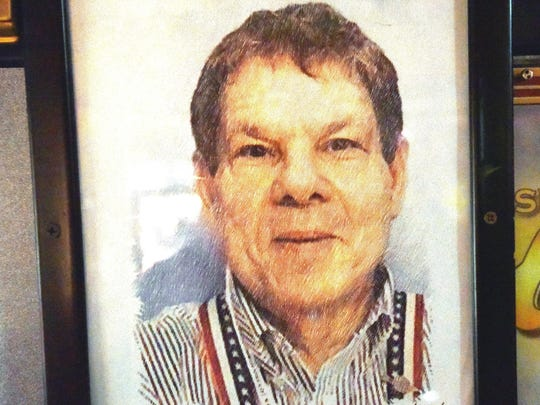 A portrait of owner Marvin Yagoda was made by one of his own machines.