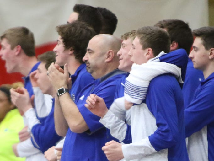 Coach Dan Wandrey and Brookfield Central teammates