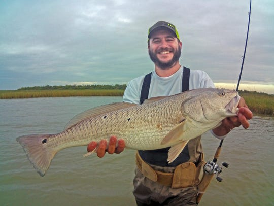 First fish of the day was this 35-inch redfish caught