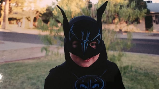 Karina Bland's son, Sawyer, wore a Batman costume for a year and a half starting at age 3.