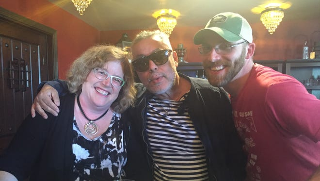 Tracy Schuhmacher, Zamir Gotta, Adam Peterson at the Honeoye Falls Distillery in May 2016.