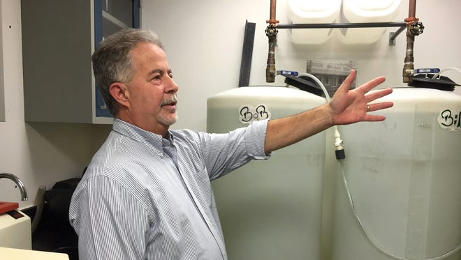 Jim Fay, general manager of South Burlington-based Champlain Water District, talks Monday about measures taken to test for lead and brass.