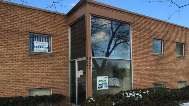 The office of the MSU service workers union, AFSCME Local 1585. Its president, James Rhodes was reelected after being fired by MSU in January.