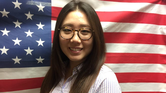 Ji Park, a Korean born in South America, became an American citizen just in time for this year's July Fourth celebration. She lives in Evansville and works in Henderson.