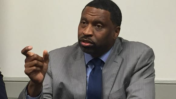 Derrick Johnson, vice chairman of the NAACP national board of directors and president of the Mississippi NAACP, talked Tuesday about the organization's upcoming listening tour.